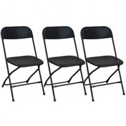 Chaise pliante noire pas chère