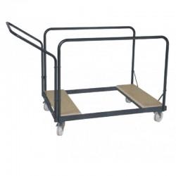 Chariot de transport tables rondes