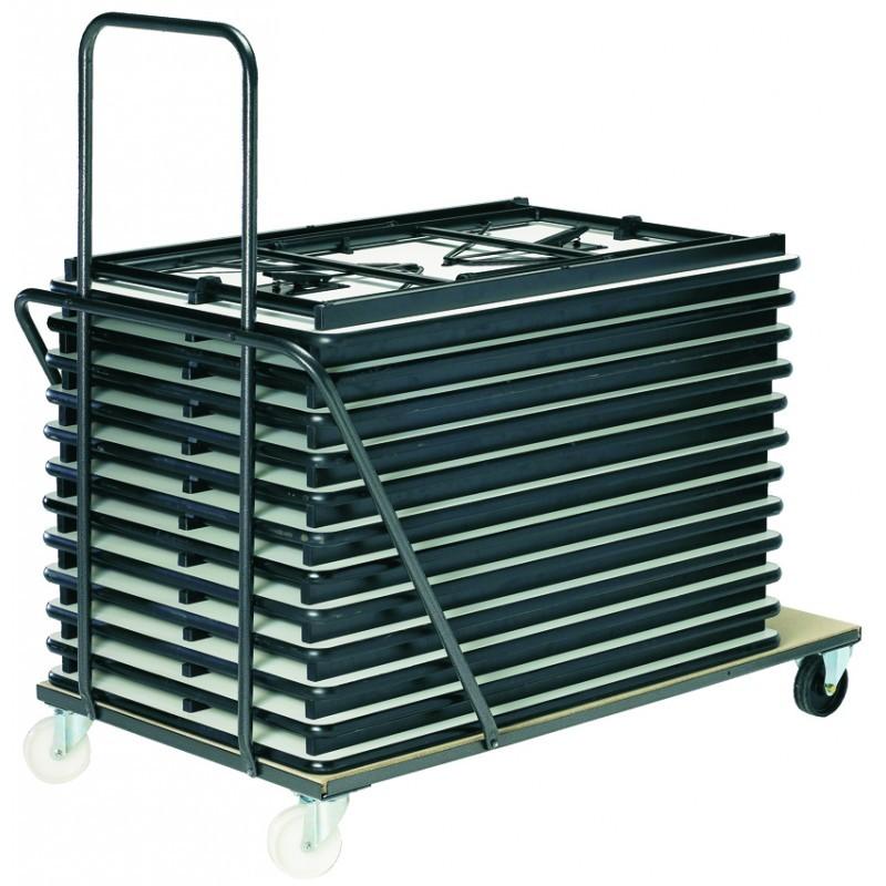 Chariot pour tables polypro en 120 cm ou 160/180 cm