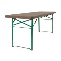 Table polypro et acier type fête votive du sud