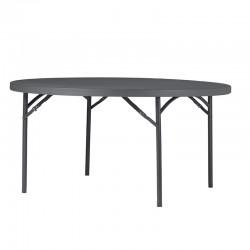 Table ronde pliante pour 8 personnes