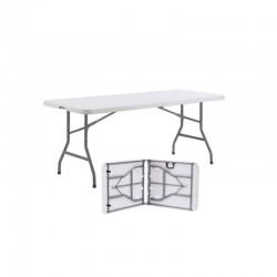 La table en plastique qui se plie en 2 pour vous