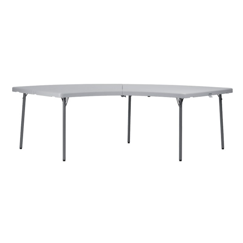 Table polypro demi lune