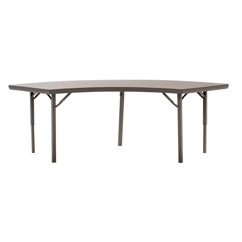 Table pliante circulaire polypro