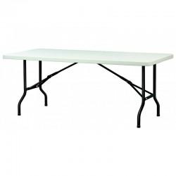 Table en plastique qui se plie pour un rangement facile