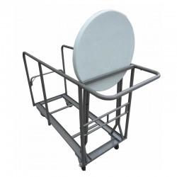 Chariot pour transport de tables rondes