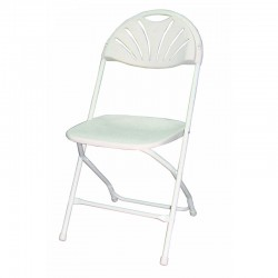 chaise pliante polypro blanche