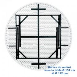 Table pliante ronde en polypro
