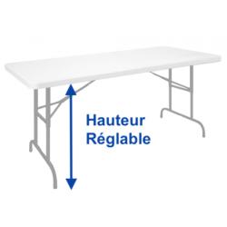 Table réglable sur la hauteur