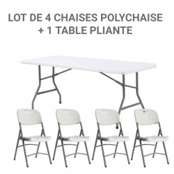 Lot de 4 chaises pliantes...