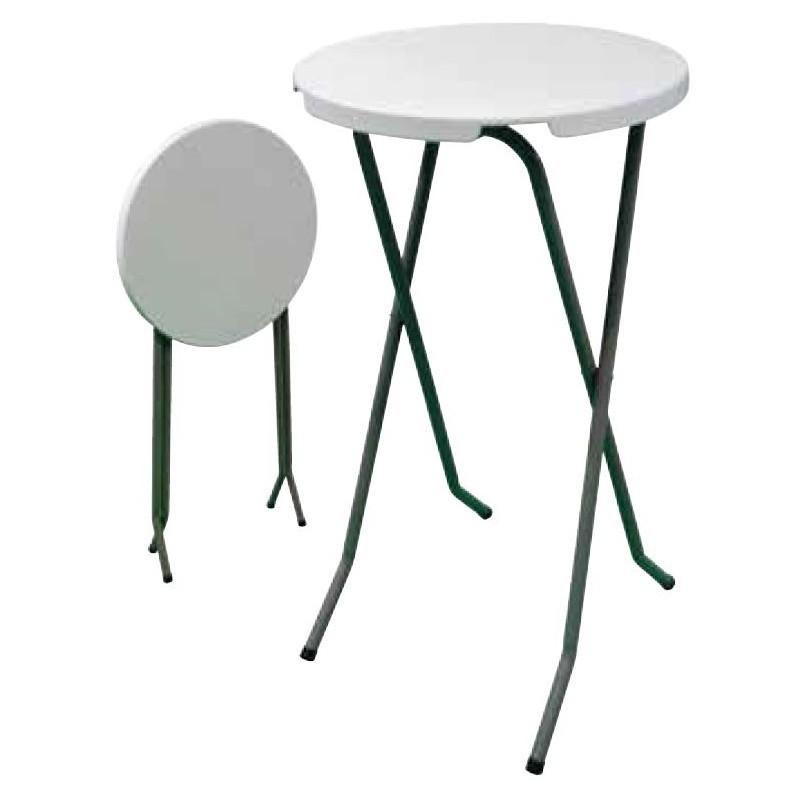 Table mange debout pliante de 60 cm de diamètre