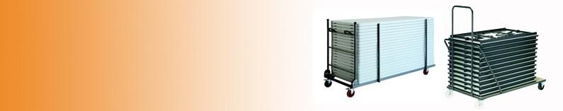 Pack chariot de transport et tables polypro pliantes